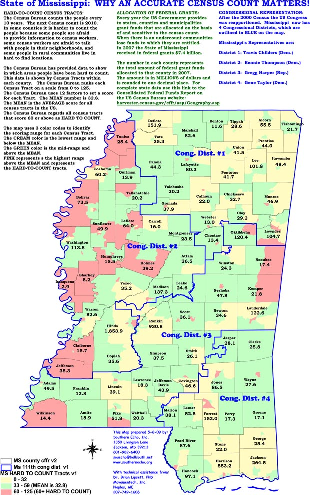 Mississippi State Map By County - Mississippi state map with cities and counties