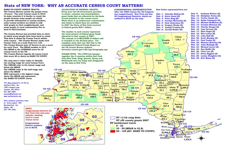 New York State Map With Counties And Cities.Census Maps Southern Echo