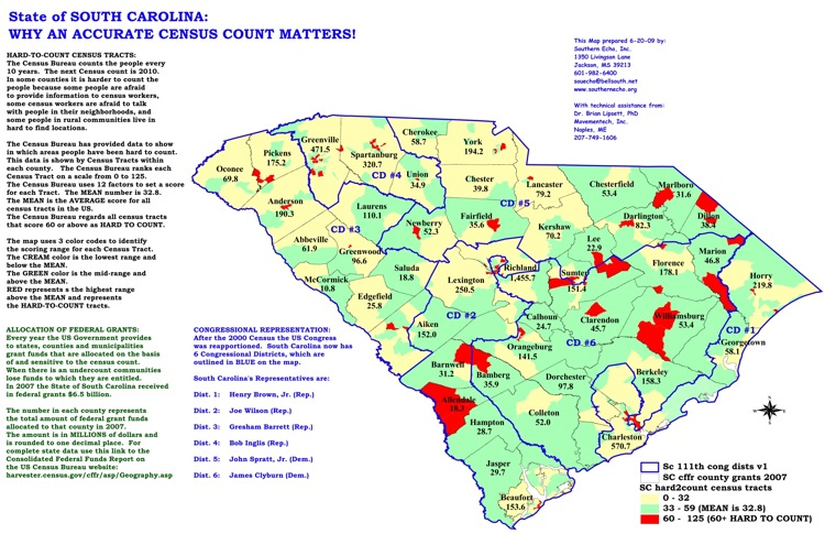 South Carolina Census Maps Southern Echo
