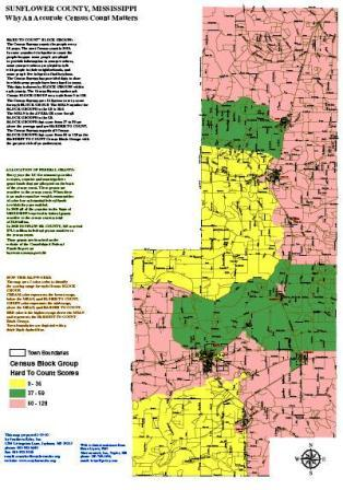 Sunflower County Census Maps Southern Echo - Ms county map